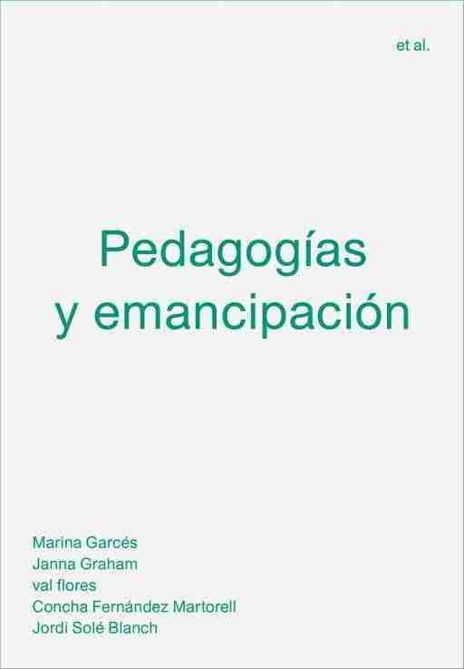 PEDAGOGIAS Y EMANCIPACION